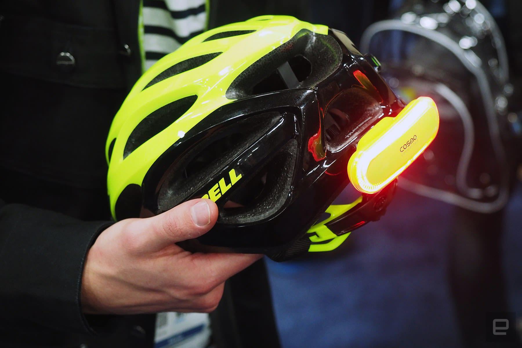 Bike Helmet Light >> Cosmo S Bike Helmet Light Will Alert Others When You Fall