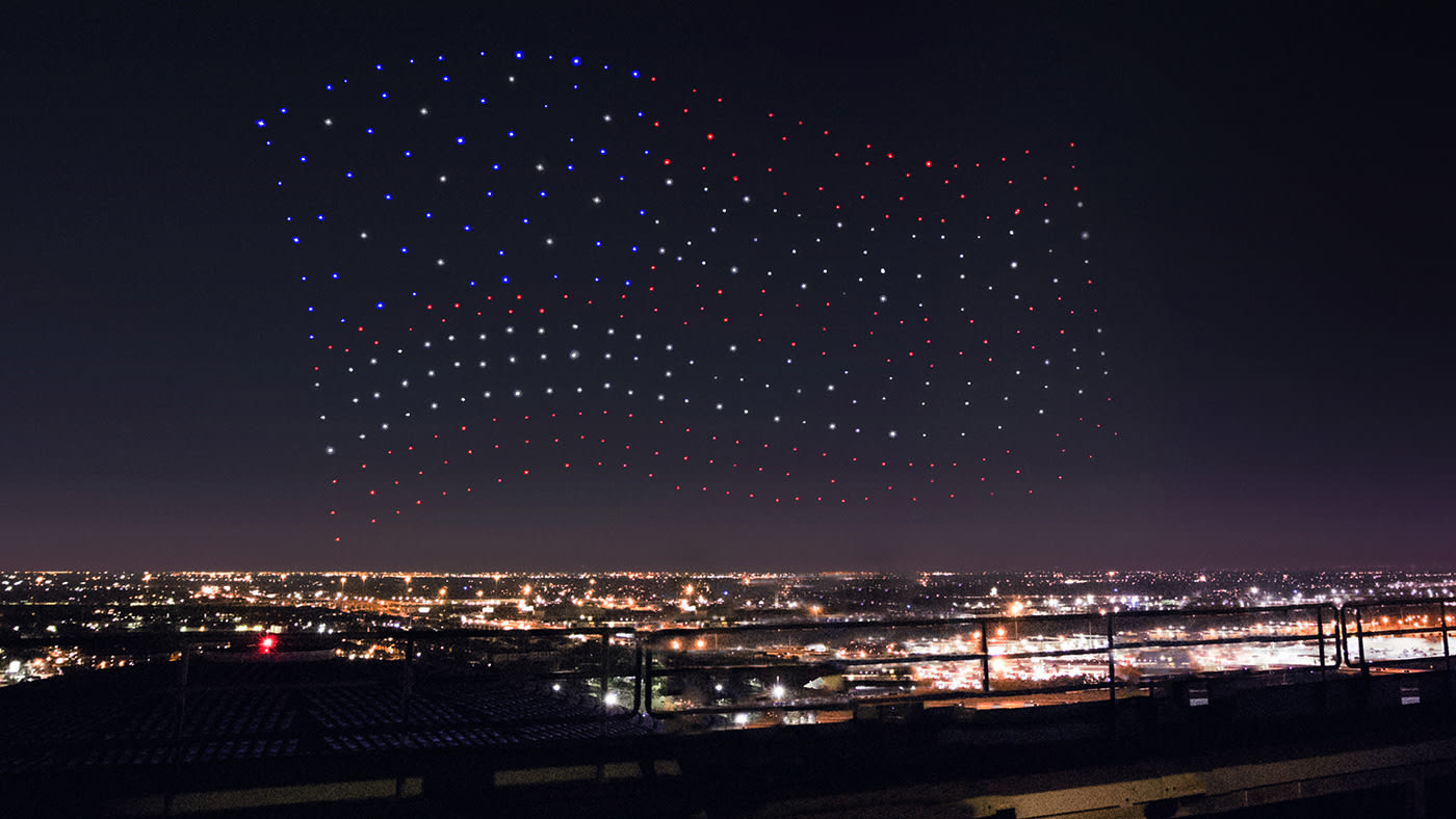 Intel Drones Form Us Flag For Lady Gaga S Halftime Show