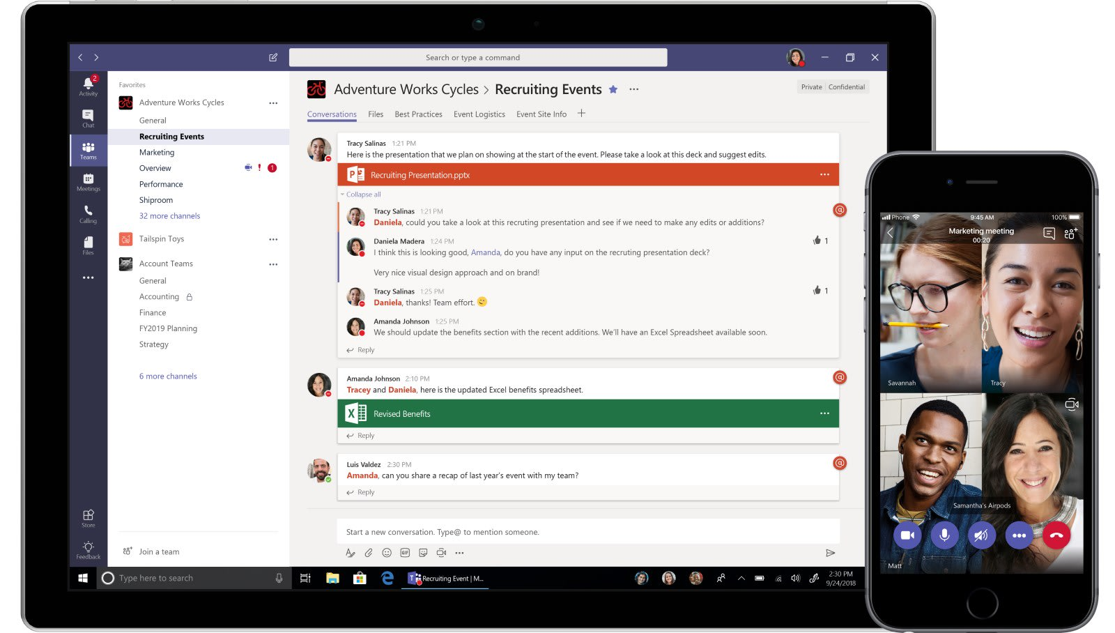 Microsoft takes on Slack with free version of Teams