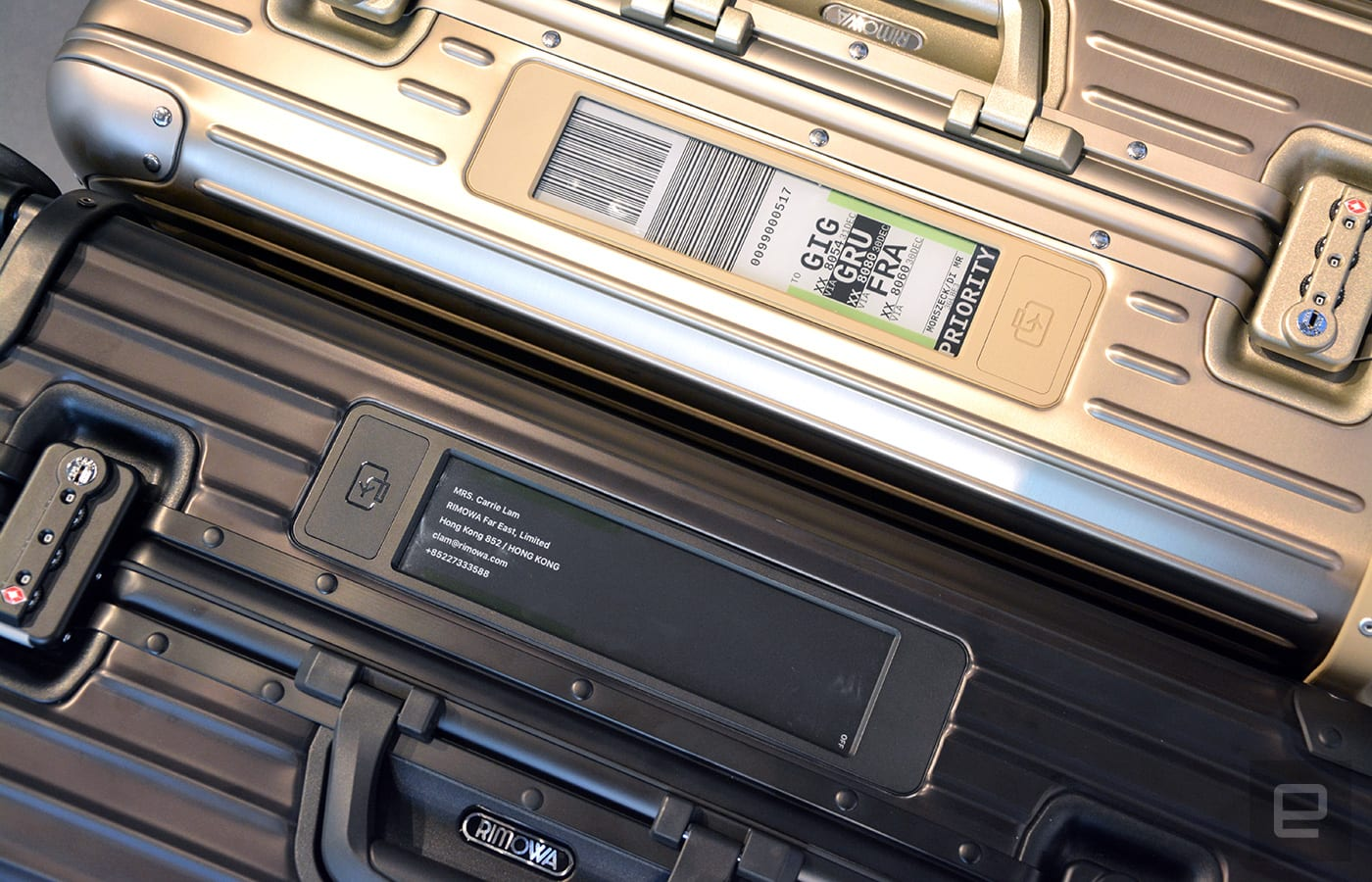 ad1f9ce0b6e4 Rimowa's electronic luggage tag is the future of traveling