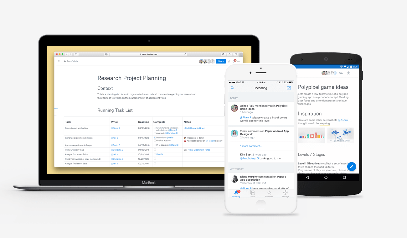 Dropbox Paper's newest features cater to designers