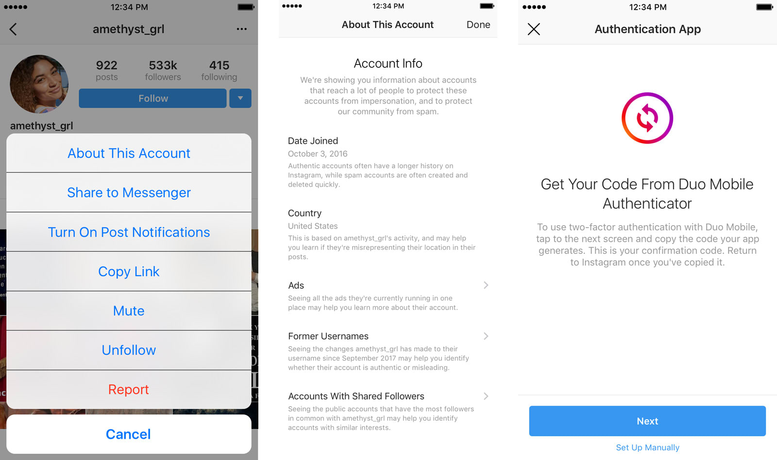 instagram displays more info to prove popular accounts are legit