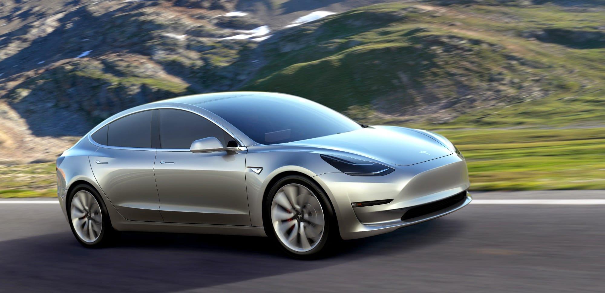 Tesla unveils its $35,000 Model 3