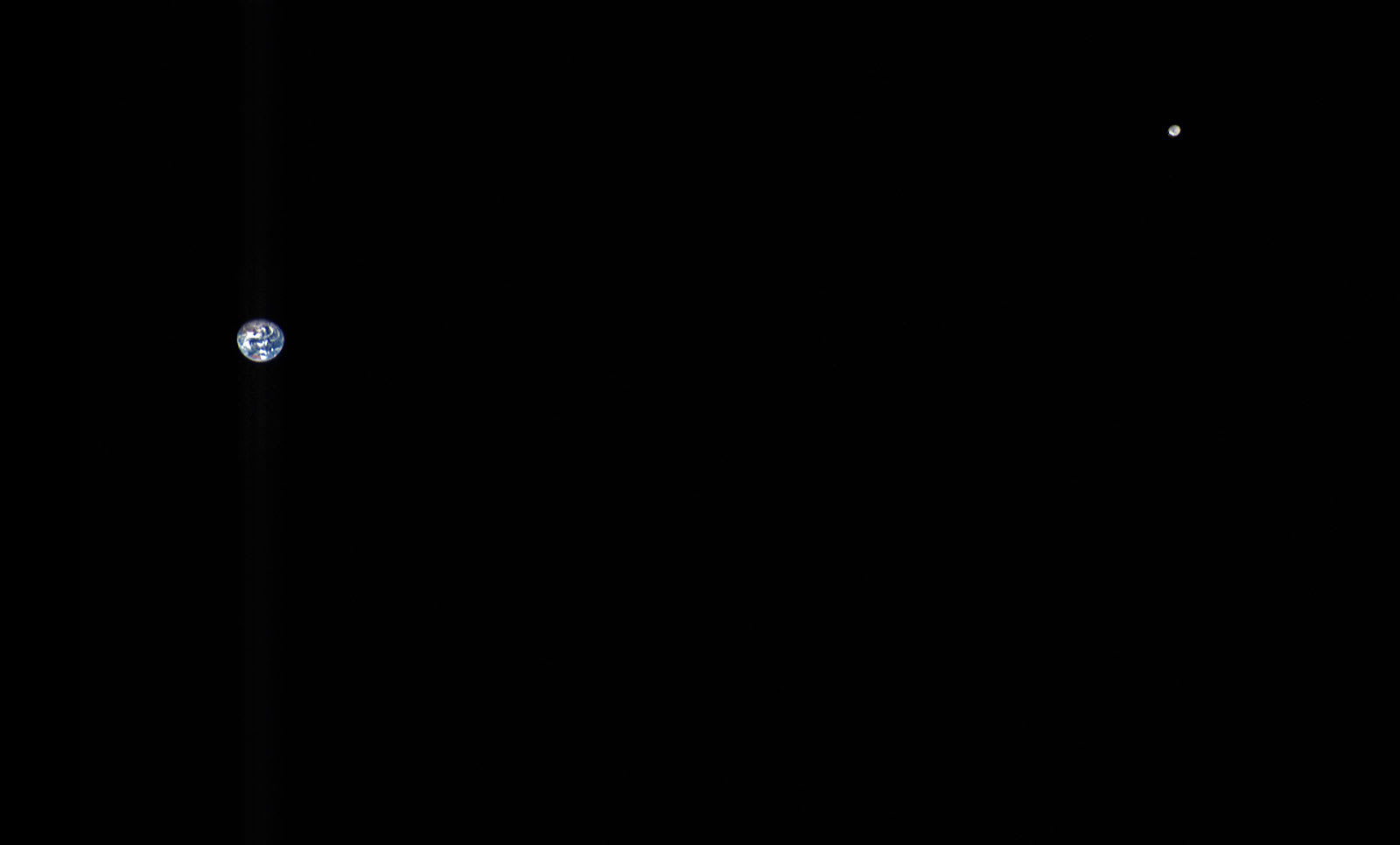 A portrait of Earth and the Moon from 3 million miles away