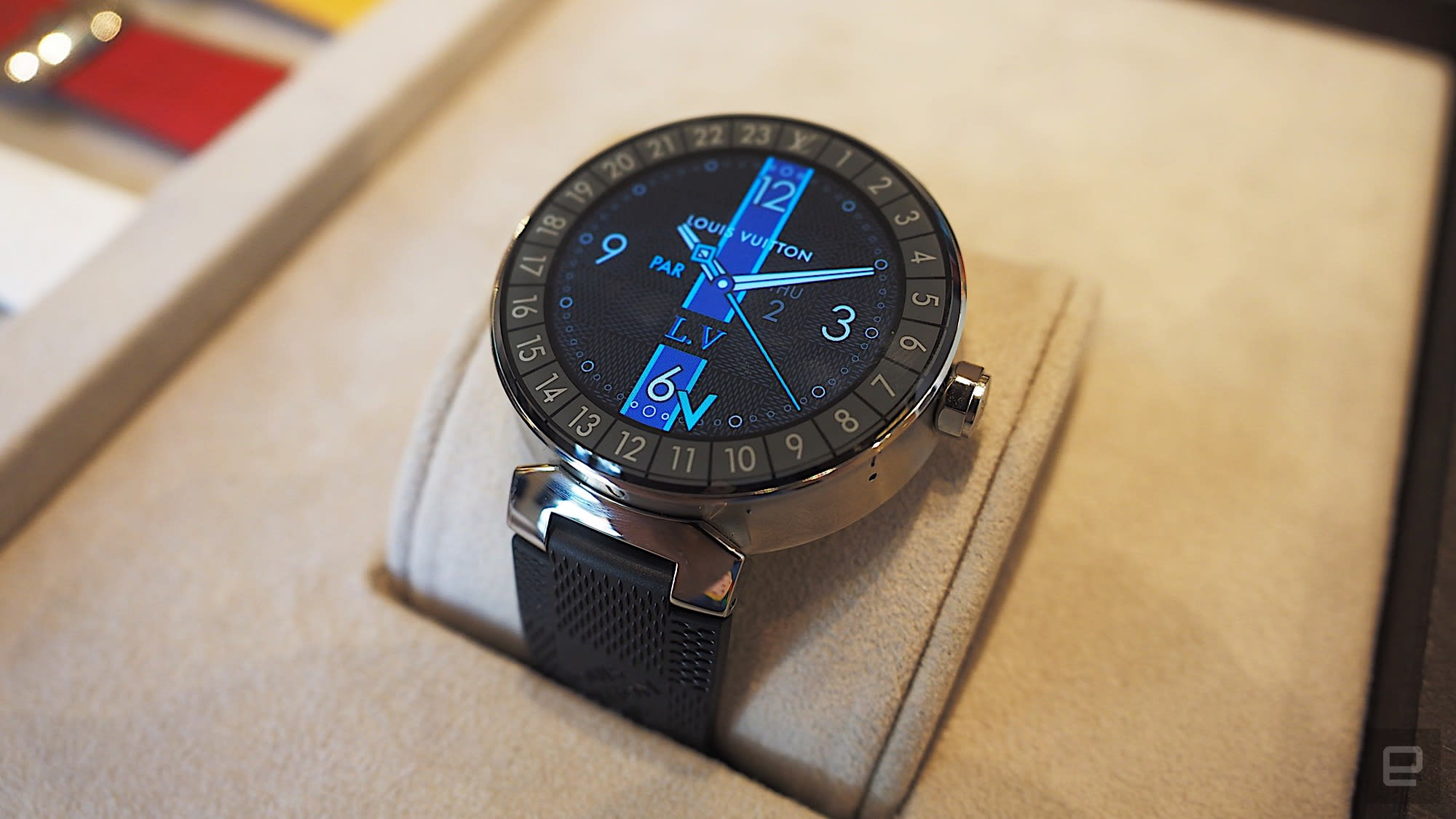 7b9596054b6c Louis Vuitton s smartwatch is an extravagant take on Android Wear