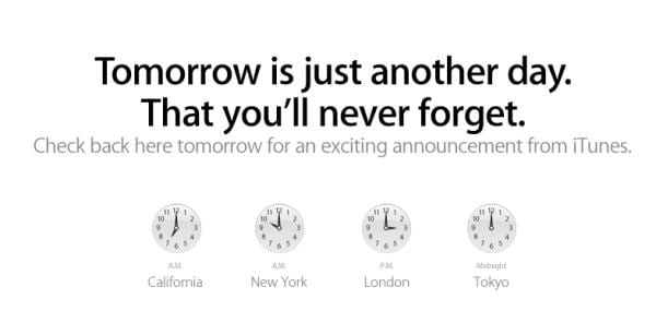 Apple says tomorrow is 'just another day that you'll never