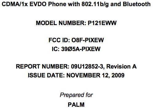 Palm Pixi clears FCC with Verizon frequencies and WiFi in