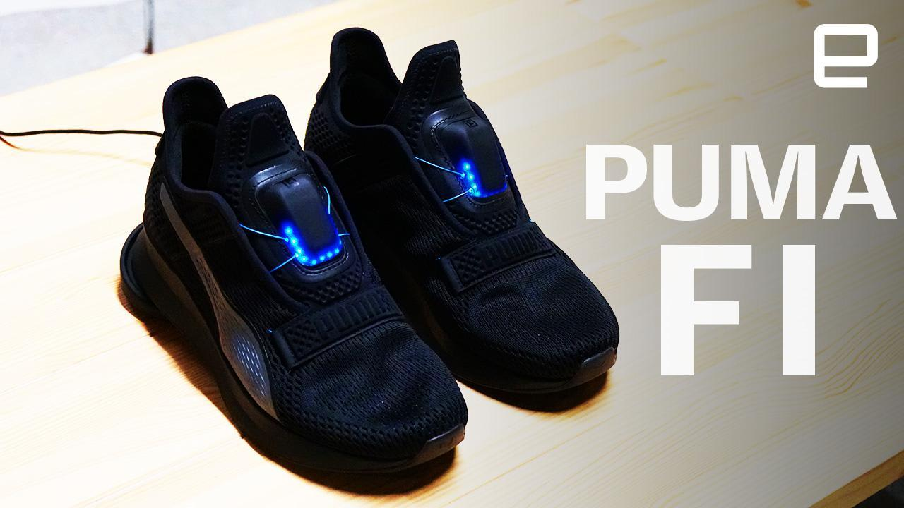 Fabricación Lujo Gracioso  Puma wants to let you try its new Fi self-lacing shoes | Engadget