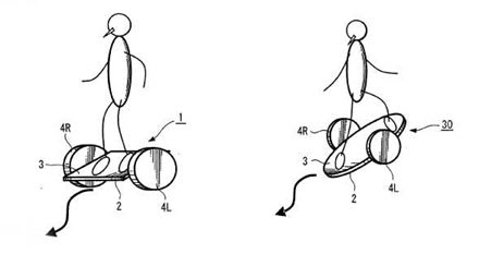 Sony patents Segway-esque skateboard