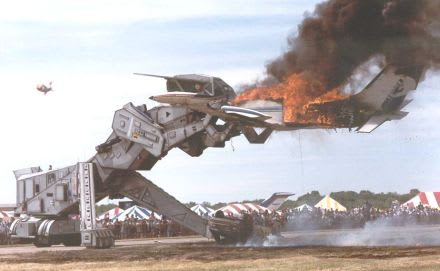 Forty Foot Tall Fire Breathing Robosaurus For Sale Engadget