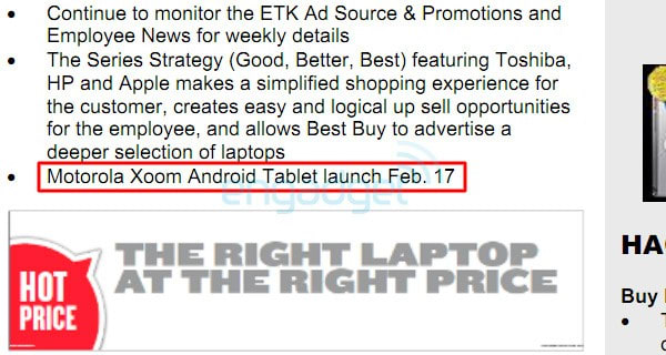 Motorola Xoom Launching February 17th At Best Buy Update
