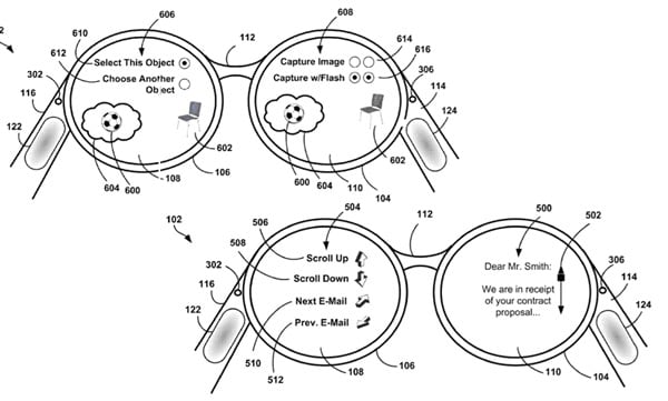 Google's Project Glass trackpad gets swaddled in patent