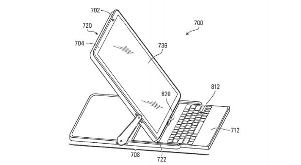 BlackBerry files patent application for 180-degree hinge