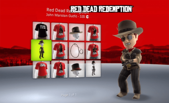 Red Dead Redemption Avatar Gear Moseys On Over To Xbox Live