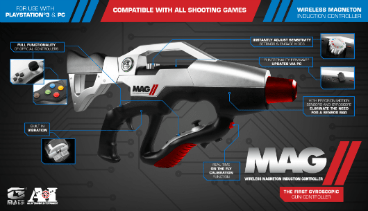 The MAG II is a gun-shaped motion controller for PS3 and PC