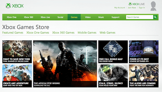 Xbox Live Marketplace rebranded as Xbox Games Store