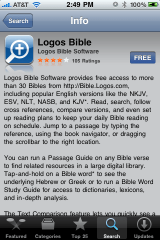 Logos brings free Bible study tools to the iPhone
