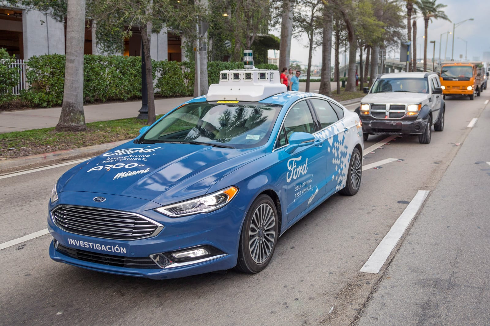 Ford's self-driving car network will launch 'at scale' in 2021