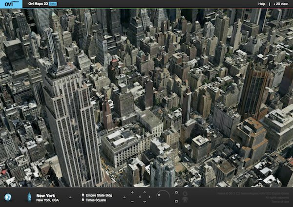 nokia launches ovi maps 3d beta, challenges google earth