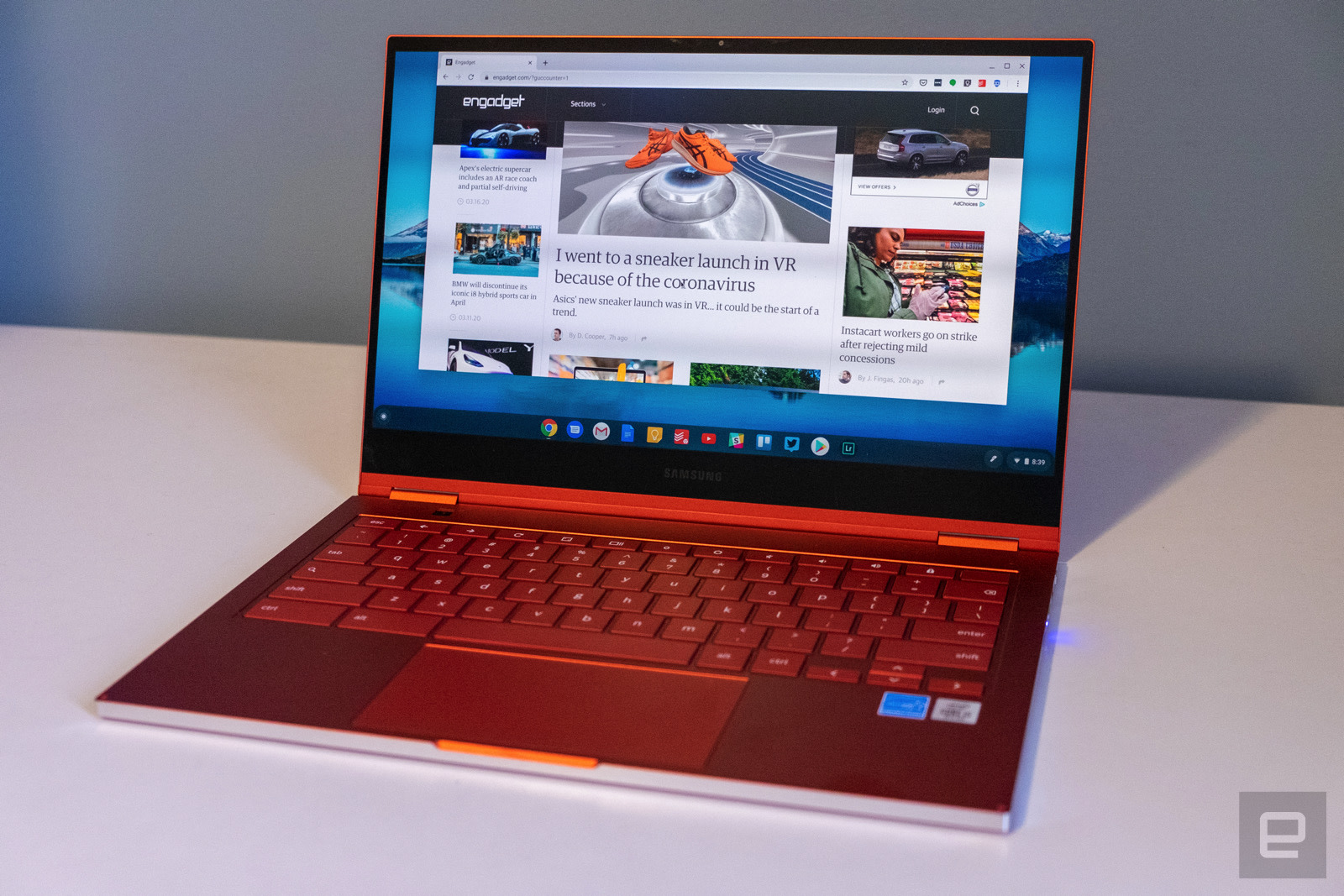 Samsung Galaxy Chromebook Review Great Until The Battery Runs Out Engadget