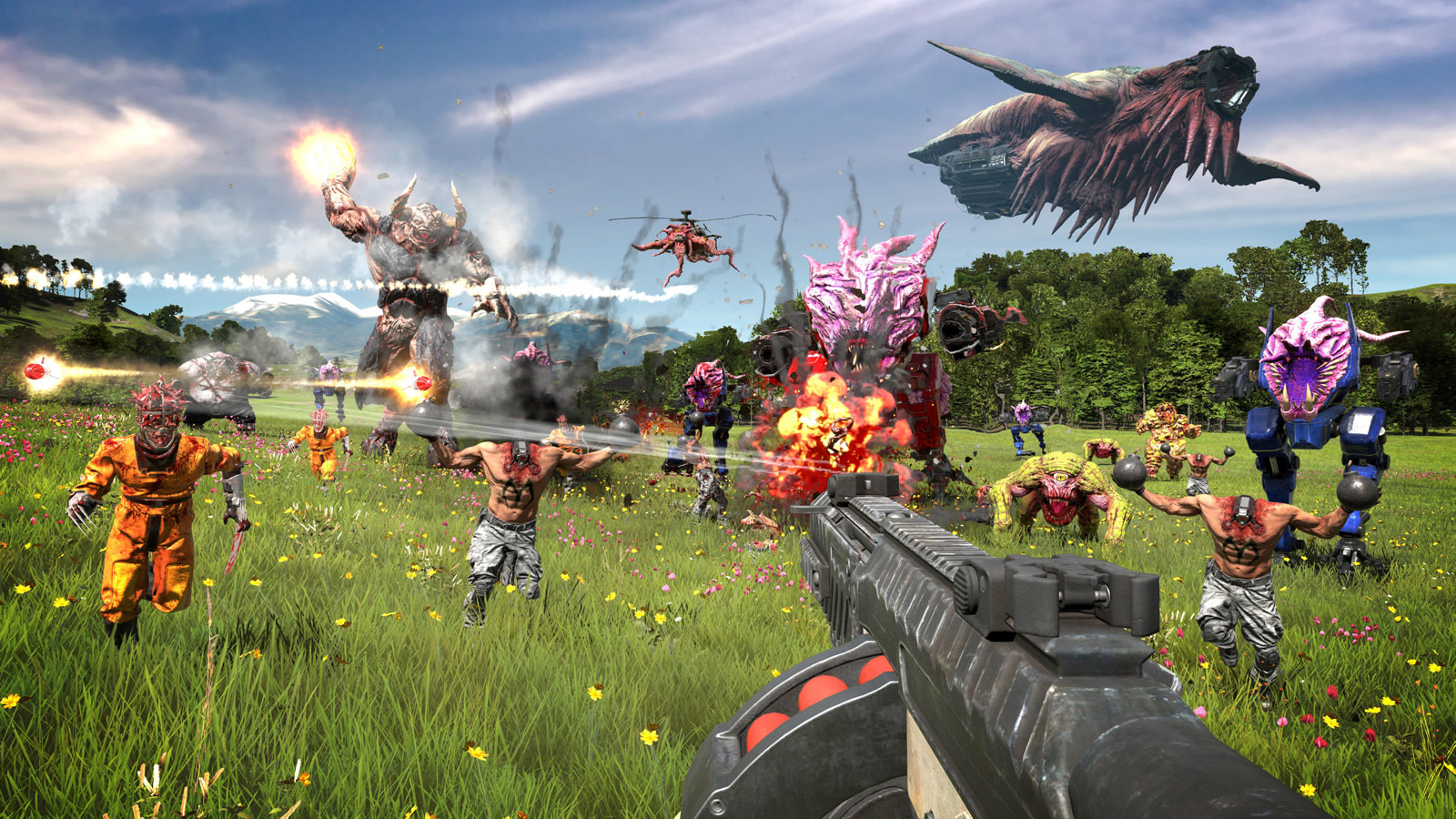 Serious Sam 4' arrives on PC and Stadia in August | Engadget