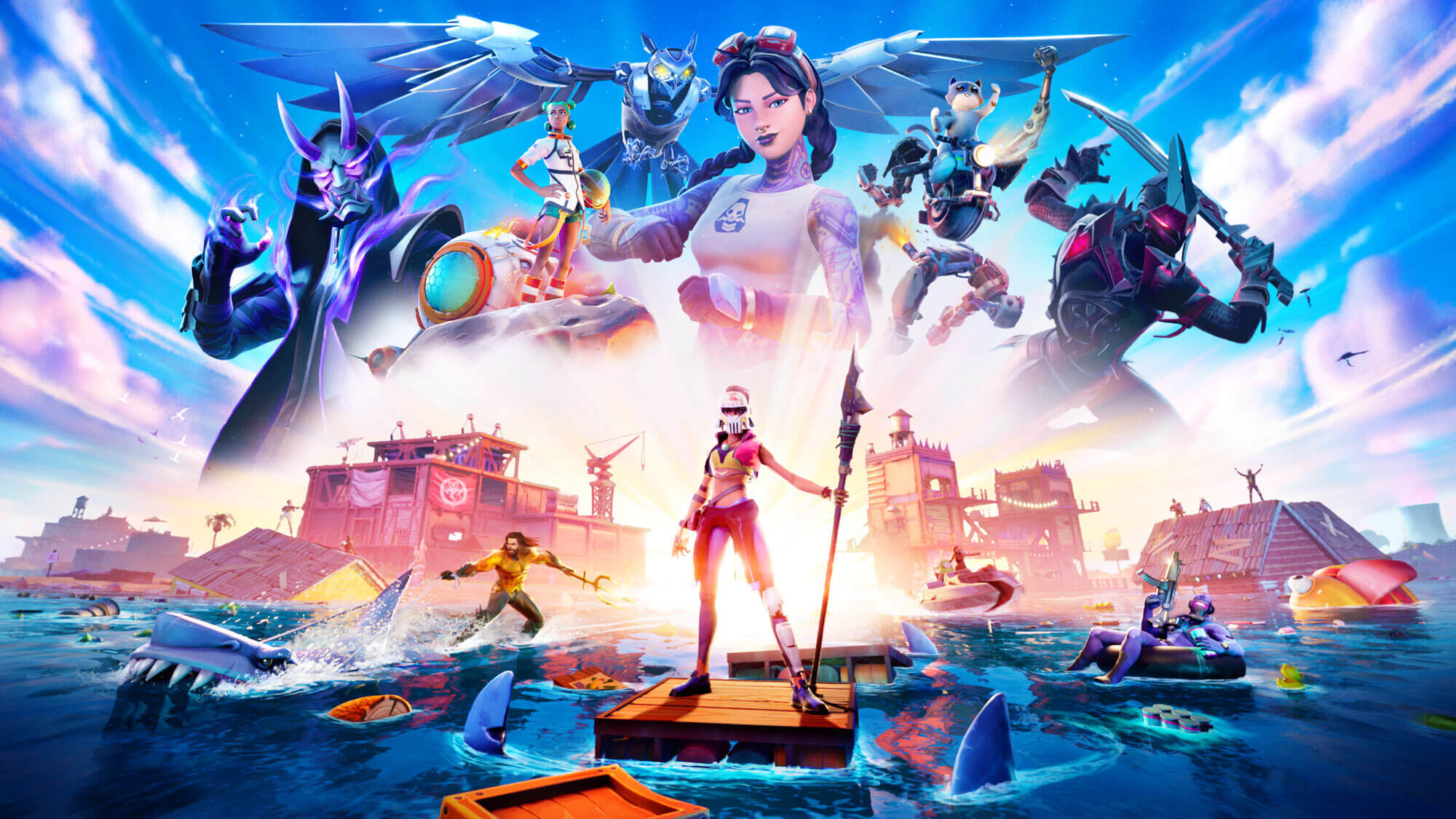 Fortnite Chapter 2 Season 3 Features Aquaman And Rideable Sharks Engadget