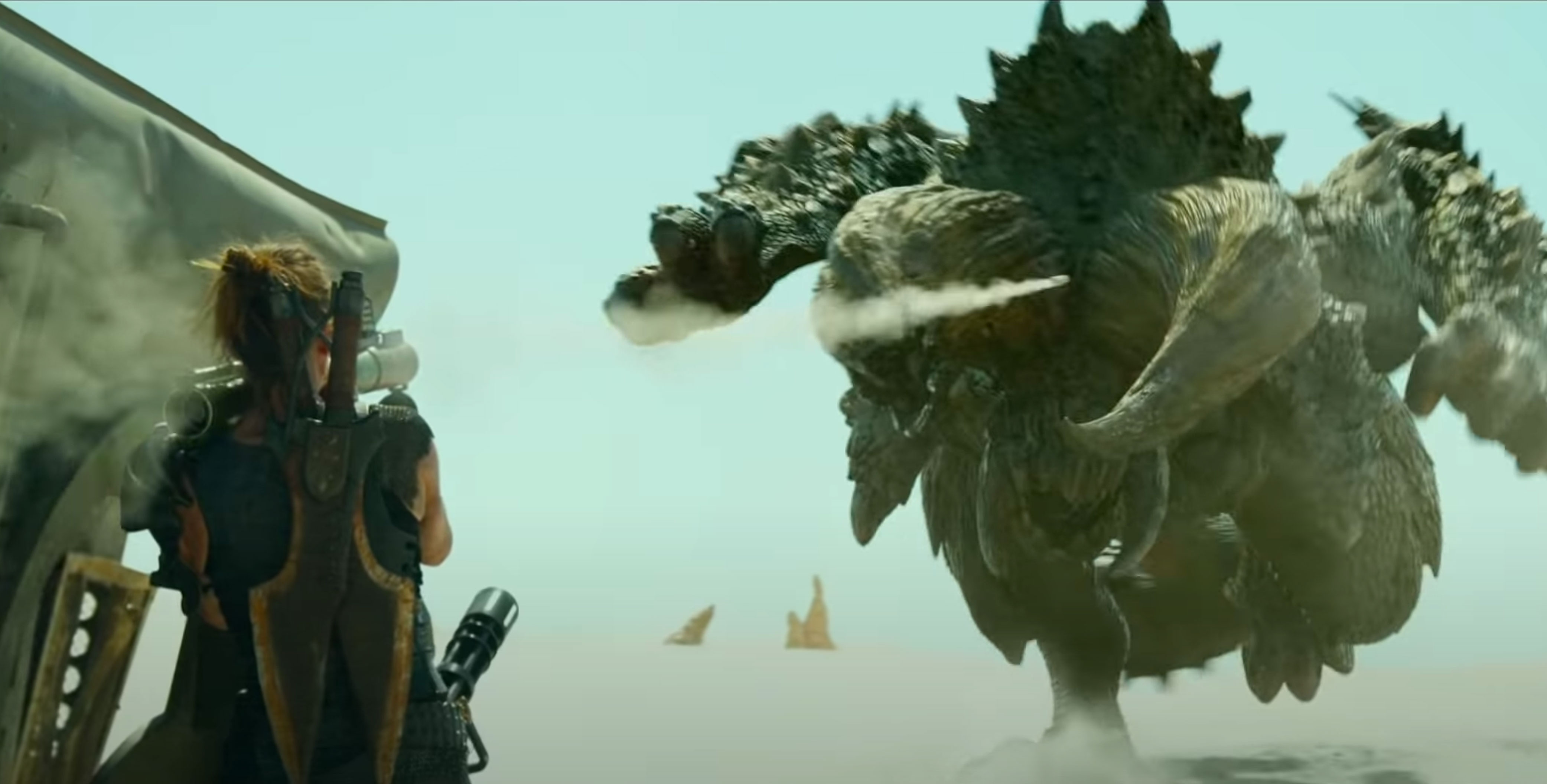 Shockingly, the 'Monster Hunter' movie trailer is full of giant beasts |  Engadget