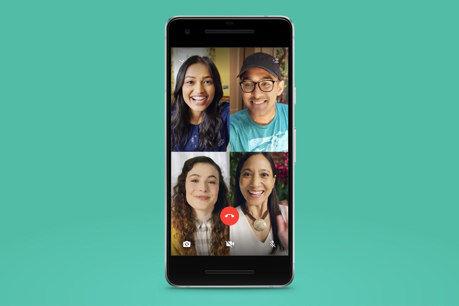 WhatsApp launches four-person group video calling | Engadget
