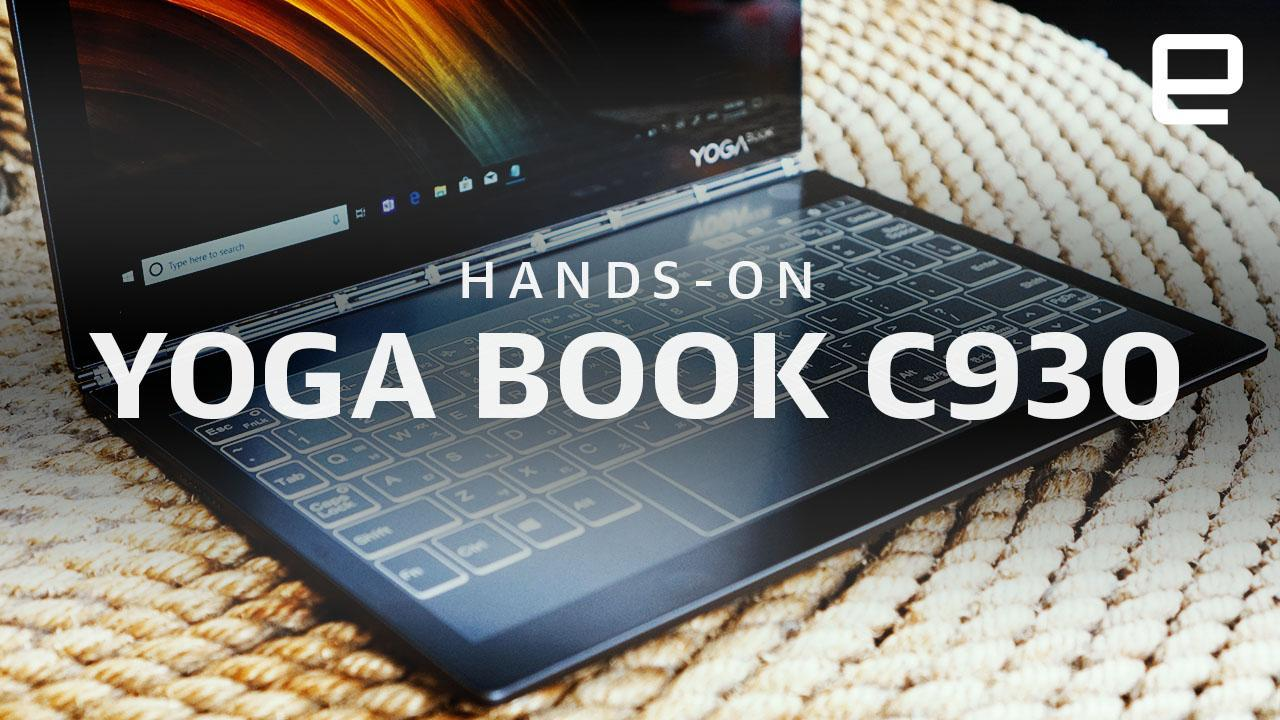 Lenovo S New Yoga Book Replaces The Keyboard With An E Ink Screen Engadget