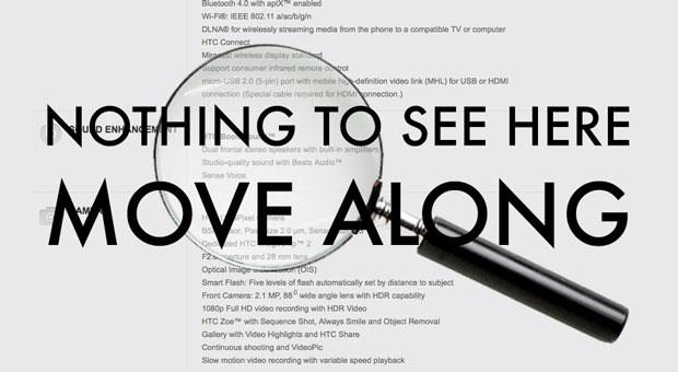 HTC One HDR microphone disappears from spec sheet after