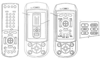 Sony Ericsson's patent application for cellphone as remote