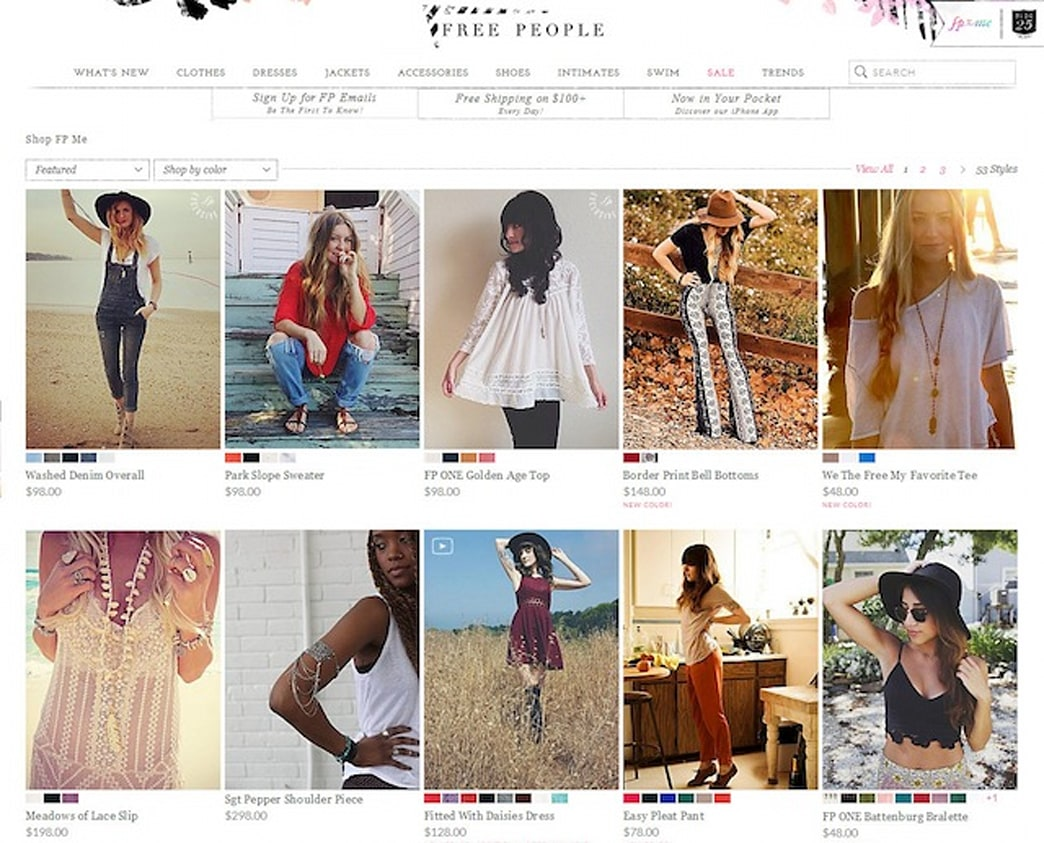 Free People to replace models with customer photos online
