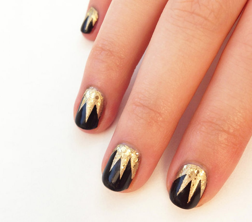 DIY this art deco-inspired nail design