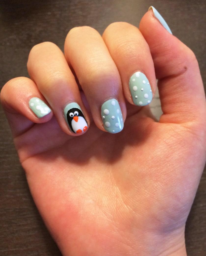The cutest nail art you'll see all season (hint: Penguins)