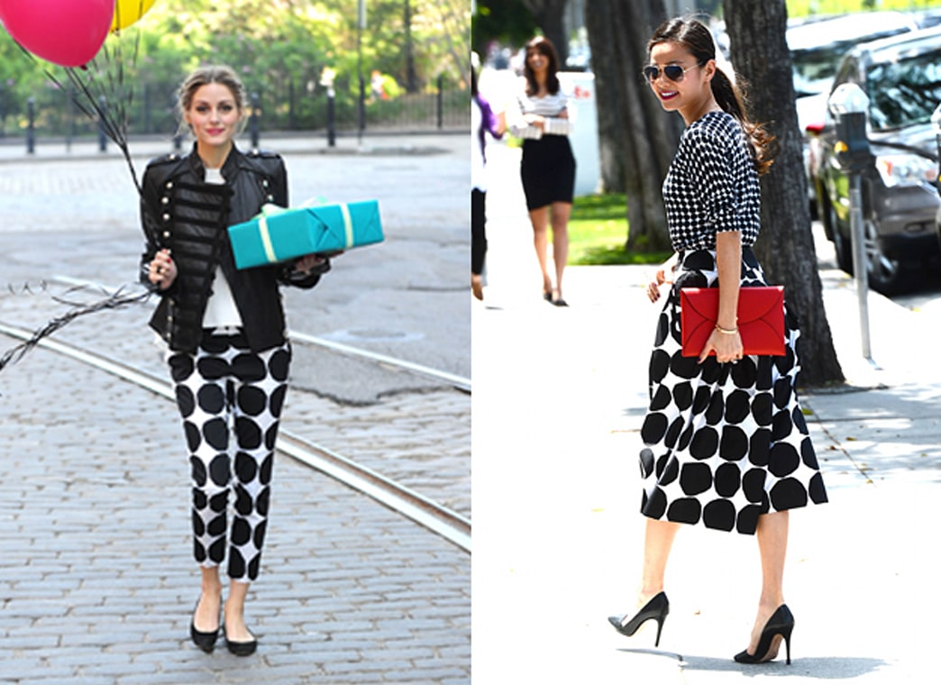 Who wore it better? Polka dots for days