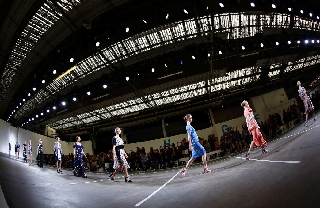 Photos: Man falls through roof of Topshop venue at London Fashion Week