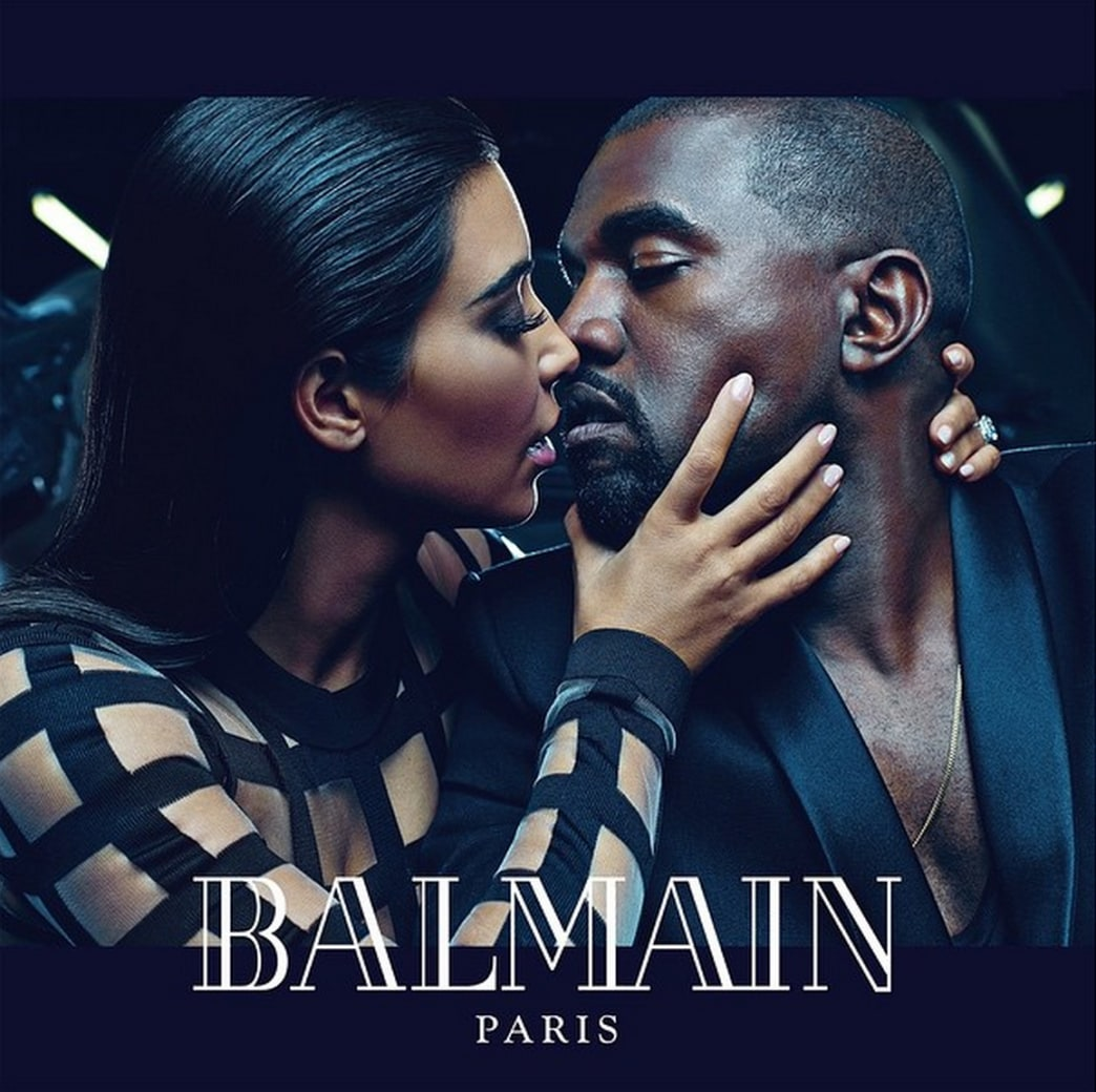 Kim Kardashian and Kanye West got their own Balmain ad for Spring 2015