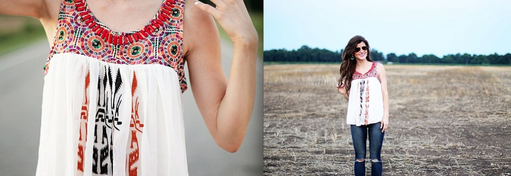 Need it now: This Anthropologie embroidered tank