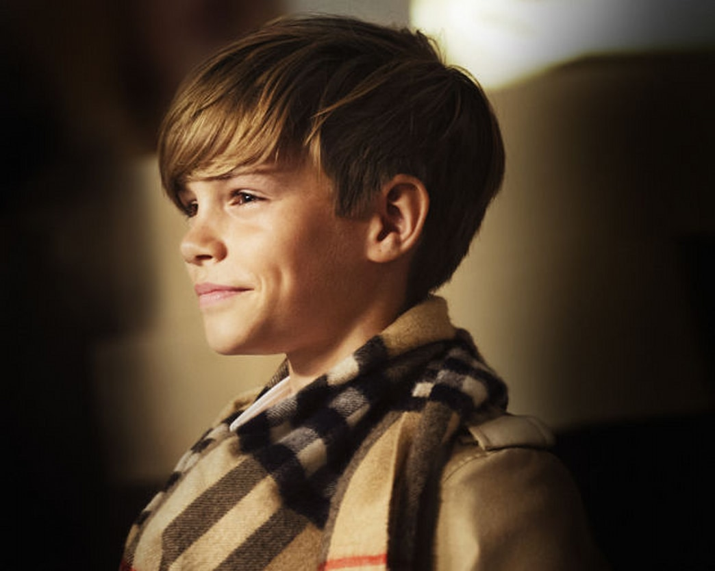 Romeo Beckham is adorable in a second Burberry campaign