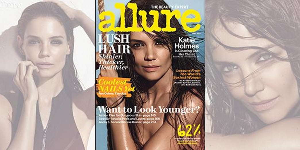 Katie Holmes Smolders on Cover of Allure Magazine