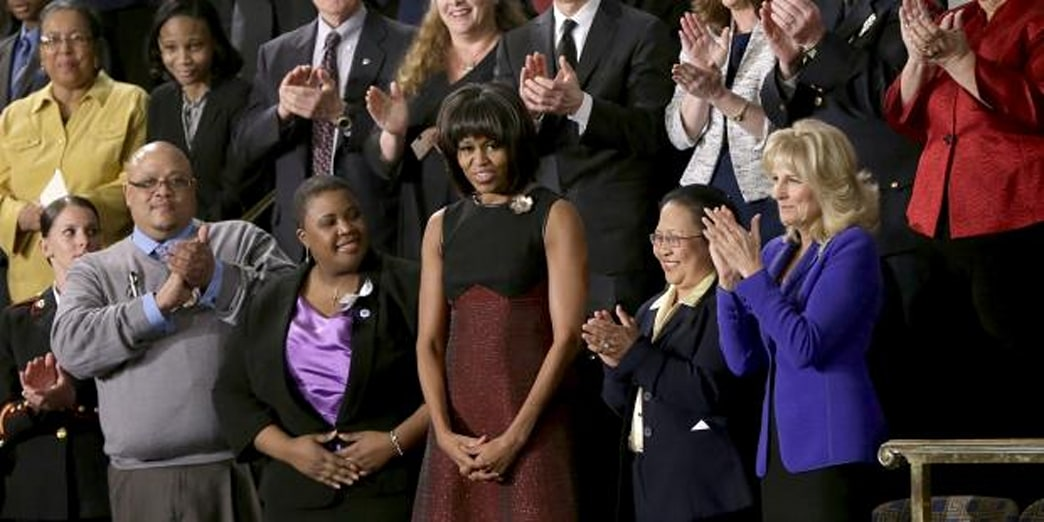 Michelle Obama's State of The Union Stunner