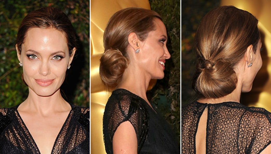 Angelina Jolie's gorgeous updo at 2013 Governor's Awards