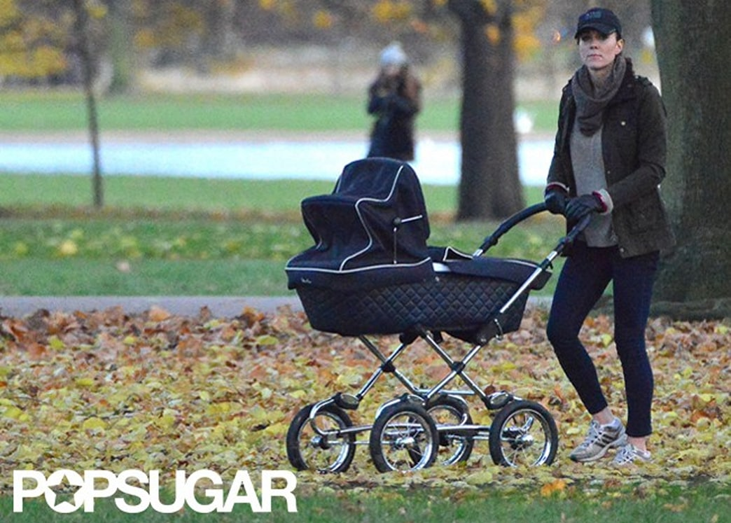 Photos: Duchess Kate takes Prince George out for a stroll