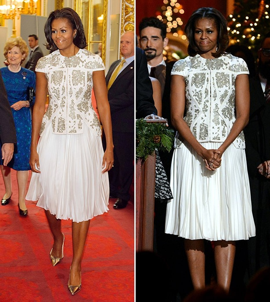 Michelle Obama recycles $6,800 jacket for 'Christmas In Washington 2013'