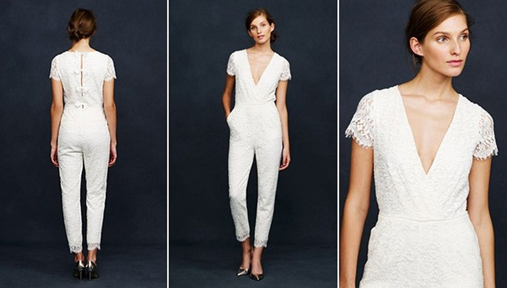 b74c882b6e44 J. Crew s bridal jumpsuit is the hottest new wedding trend of 2014 ...