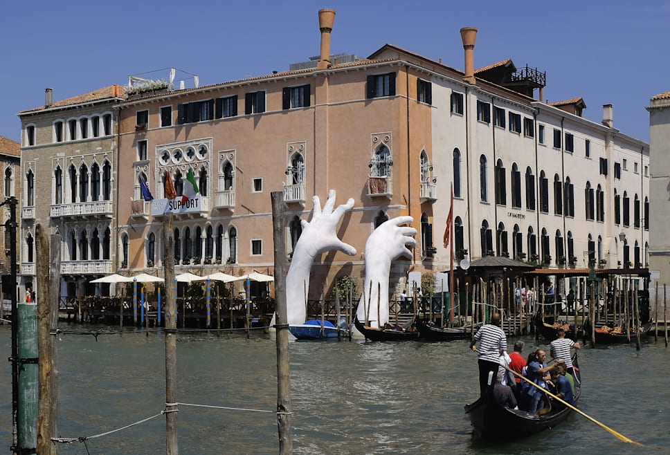 Arte para luchar contra el cambio climático en Venecia