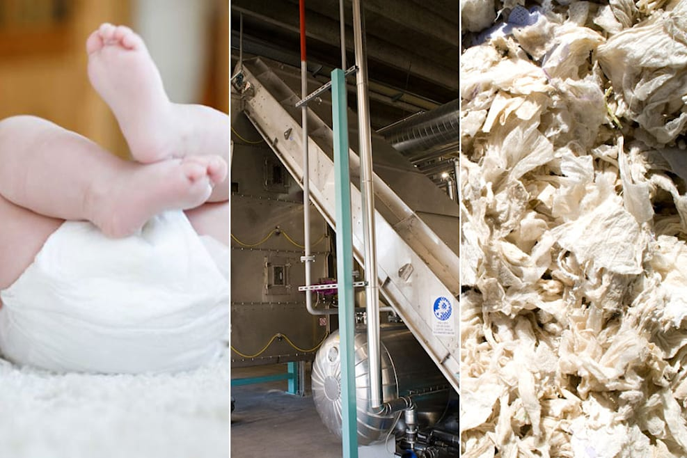 In provincia di Treviso rinascono i pannolini. L'impianto è unico al mondo
