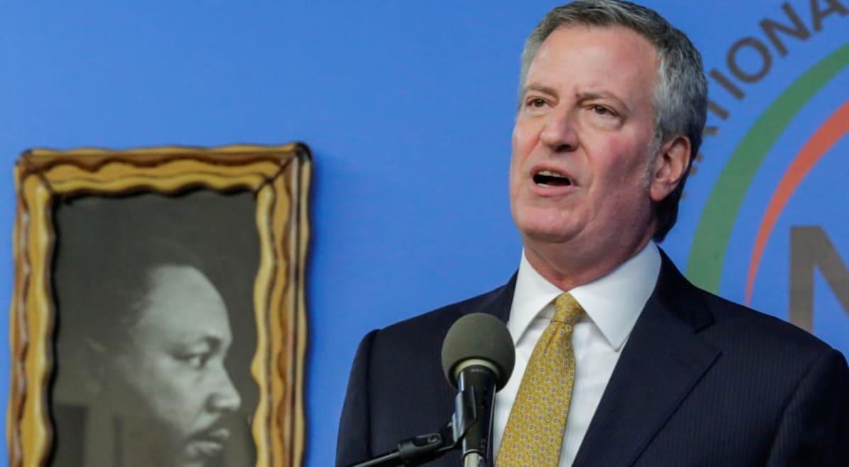 Bill de Blasio, alcalde de Nueva York: