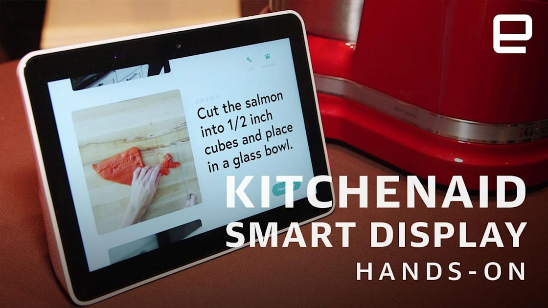 QnA VBage KitchenAid's smart display shrugs off sauce and running water