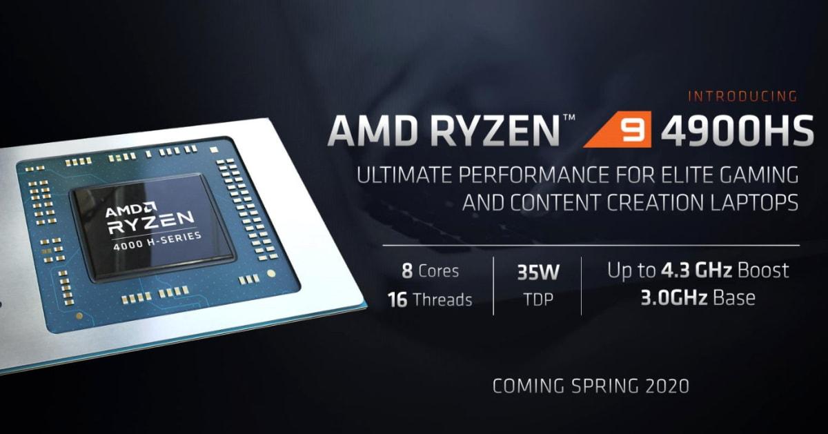 AMD's efficient Ryzen 9 CPUs target Intel's gaming laptop crown